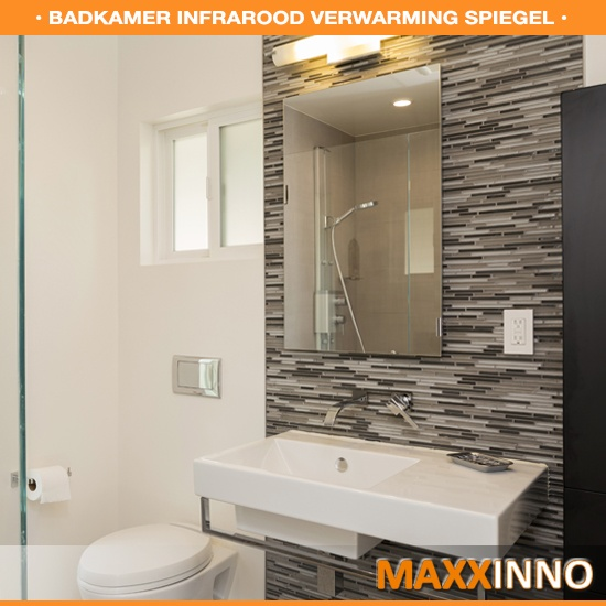 Infraroodverwarming voor de badkamer met spiegel - Maxxinno