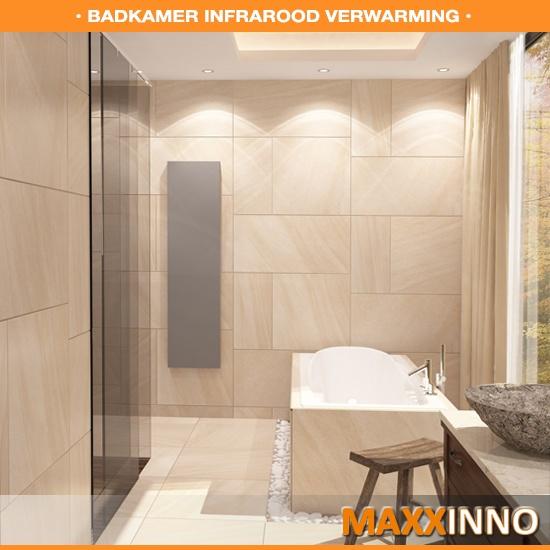 Infraroodverwarming voor de badkamer zonder spiegel - Maxxinno